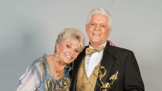 Bill and Susan Hayes with Daytime Emmy Awards