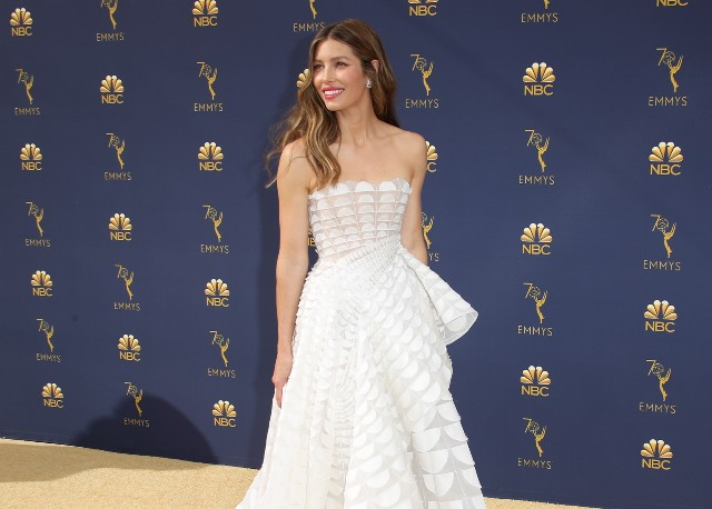 Jessica Biel attends the 70th Emmy Awards at Microsoft Theater