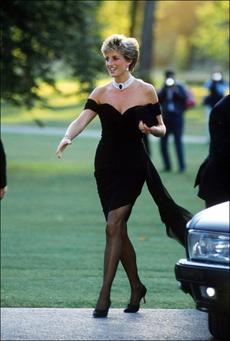 Princess Diana Showing Her Shoulders