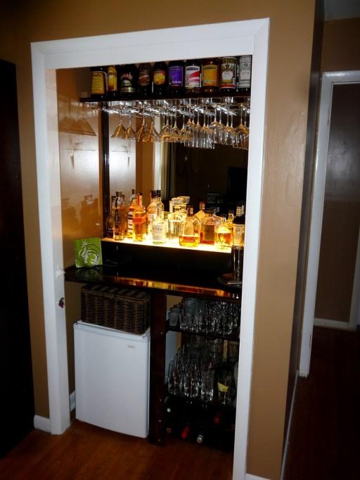 Well-Lit Closet Bar
