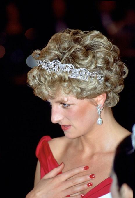 Princess Diana Wearing Colored Nail Polish
