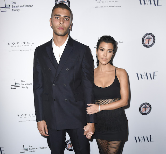 Younes Bendjima and Kourtney Kardashian attend SAMS Benefit for Syrian Refugees