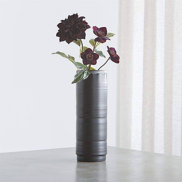 black halloween vase
