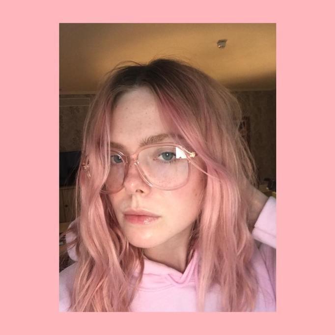 Elle Fanning: Bubblegum Pink