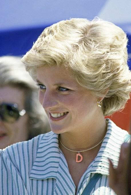 Princess Diana initials necklace