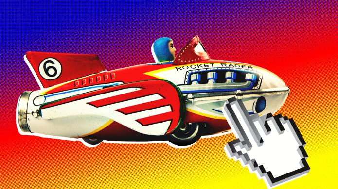 Retro Rocket Toy on Ebay