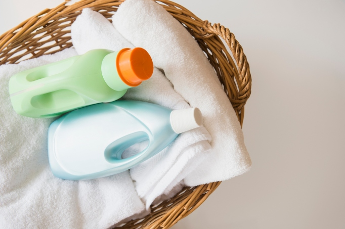 Laundry soap and towels