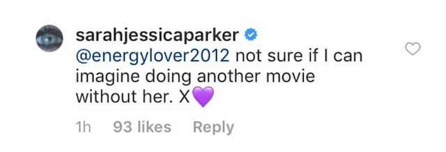 Screenshot of comment pulled from Sarah Jessica Parker's Instagram (Part II)