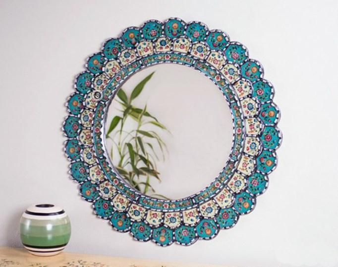 Peruvian Round Mirror
