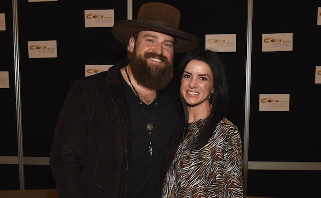 Zac Brown and Shelly Brown attend CRS 2017 Day 1 on February 22, 2017 in Nashville