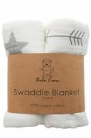 Bebe Leon Swaddle Blanket 2 Pack