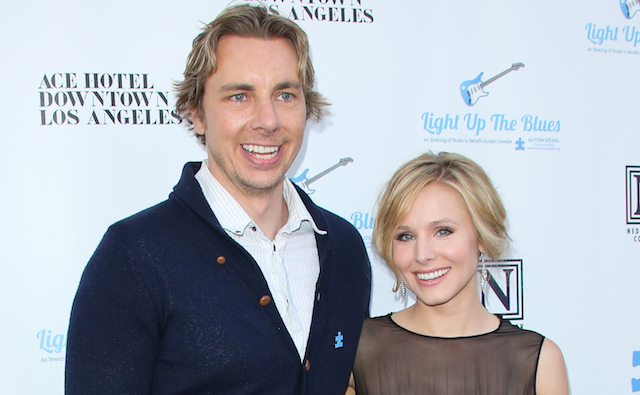 Dax Shepard and Kristen Bell attend the 2nd Light Up The Blues concert an evening of music to benefit Autism Speaks at The Theatre At Ace Hotel on April 5, 2014, in Los Angeles, California.