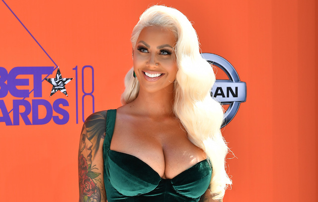 Amber Rose attends the 2018 BET Awards at Microsoft Theater