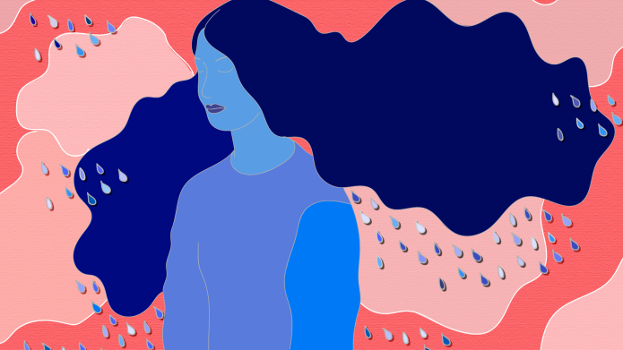 graphic of woman standing in the