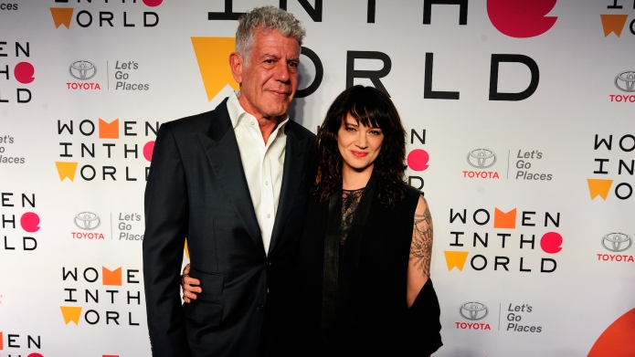 Anthony Bourdain and Asia Argento attend