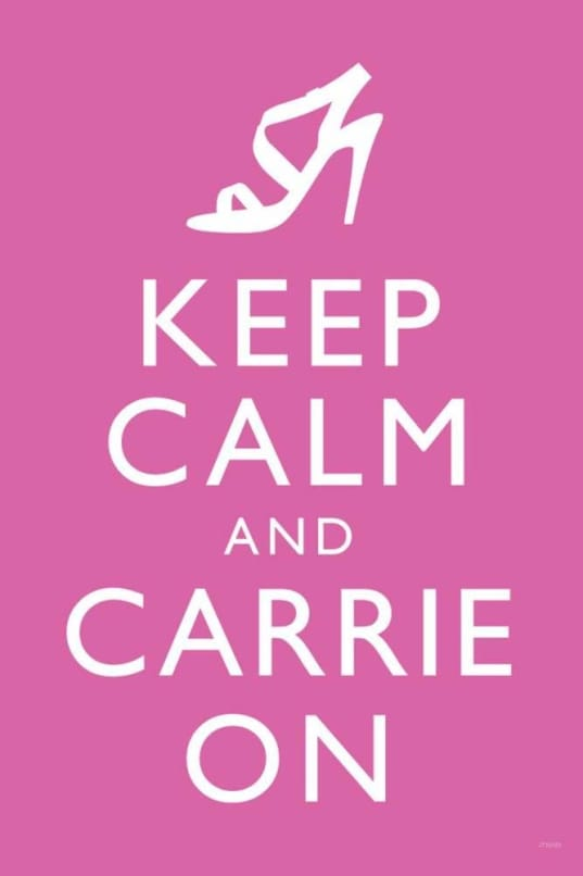 "Keep Calm and Carrie On"" Wall Art"