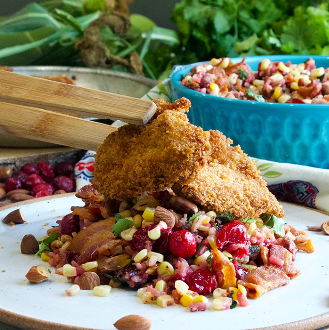 Corn, Cranberry, and Wild Rice Salad