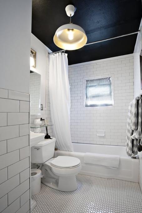 Dark Ceiling Bathroom