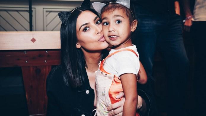 Kim Kardashian With North West