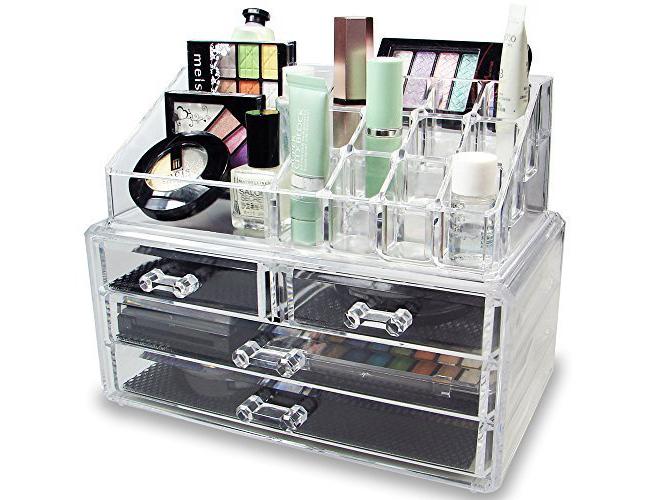 Ikee Design Acrylic Jewelry & Cosmetic/Makeup Storage Display Boxes
