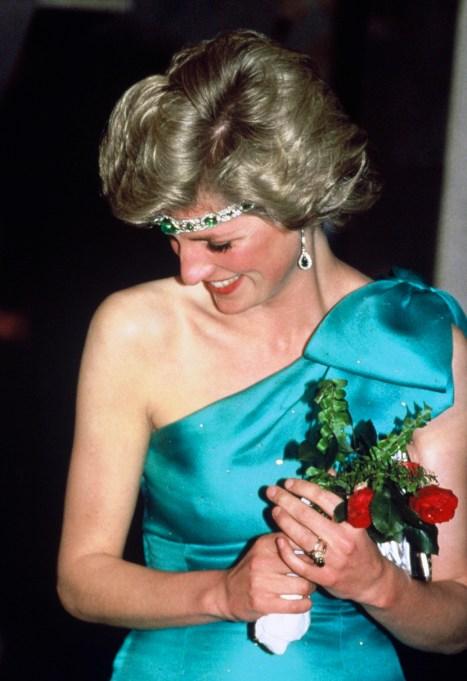 Princess Diana blue dress