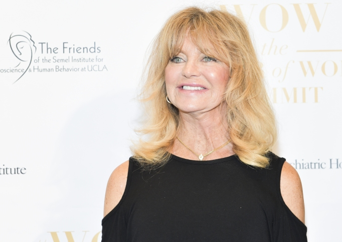 Goldie Hawn attends The Wonder of Women Summit at UCLA on May 2, 2018, in Los Angeles, California