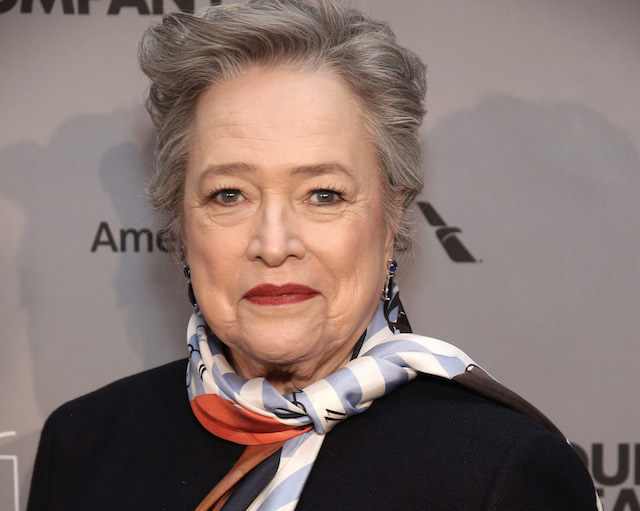Kathy Bates attends the Roundabout Theatre Company's 2018 Gala 'A Legendary Night' on Feb. 26, 2018, at the Ziegfeld Ballroom in New York City.