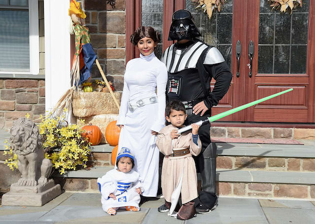 Nicole 'Snooki' Polizzi, Jionni Lavalle and their family dress up as 'Star Wars' characters for Halloween