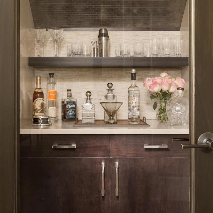 Glass Door Closet Bar