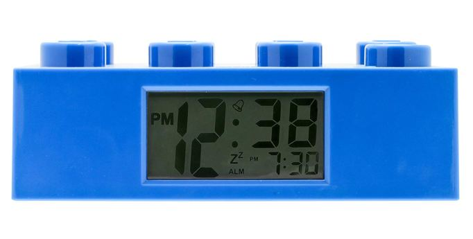 Lego Blue Brick Light Up Alarm Clock
