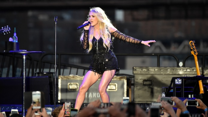 Carrie Underwood performs on stage at