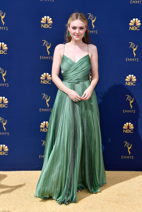 Dakota Fanning attends the 70th Emmy Awards at Microsoft Theater