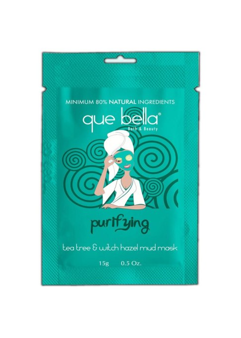 Que Bella® Purifying Tea Tree and Witch Hazel Mud Mask