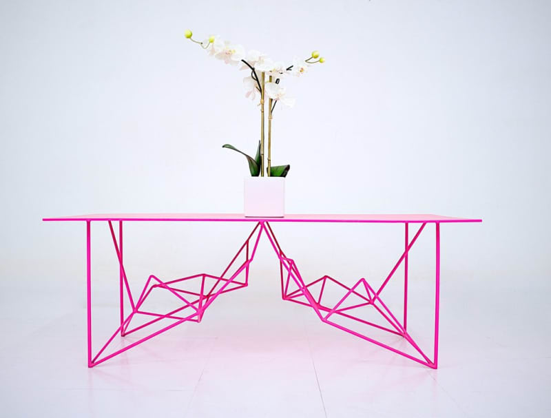 Neon Pink Coffee Table