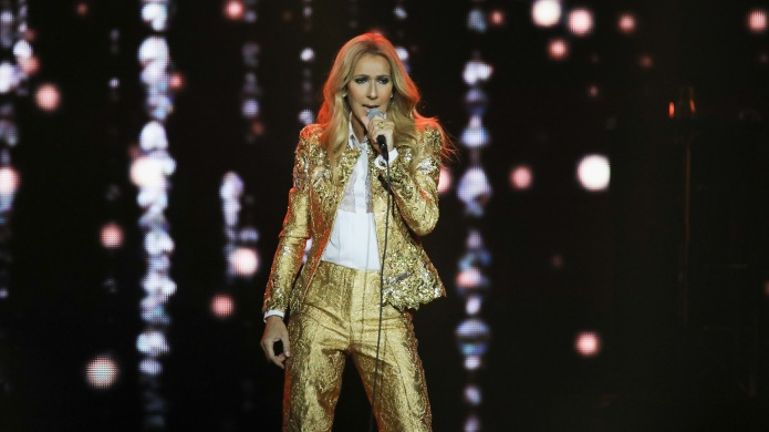 Céline Dion performs at Spark Arena