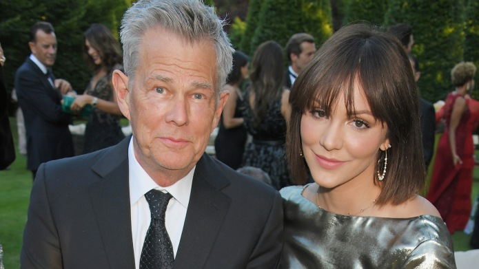David Foster and Katharine McPhee attend