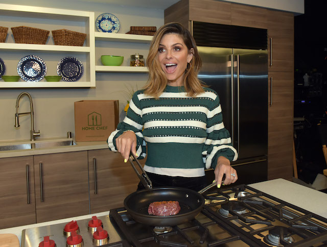Maria Menounos for the Home Chef Meal Makeover challenge