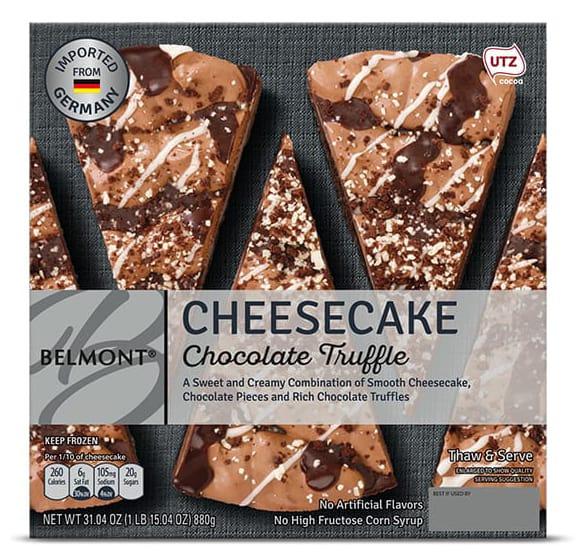 Aldi Belmont Chocolate Truffle or Raspberry White Chocolate Cheesecake