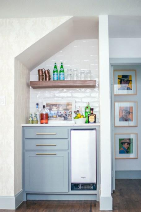 Subway Tile Closet Mini Bar