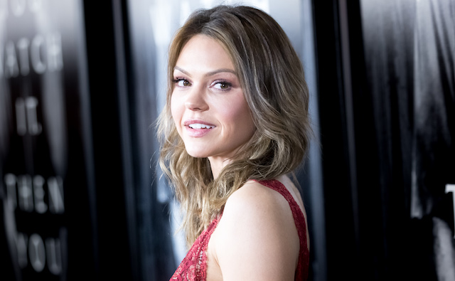 Aimee Teegarden attends the Screening Of Paramount Pictures' 'Rings'