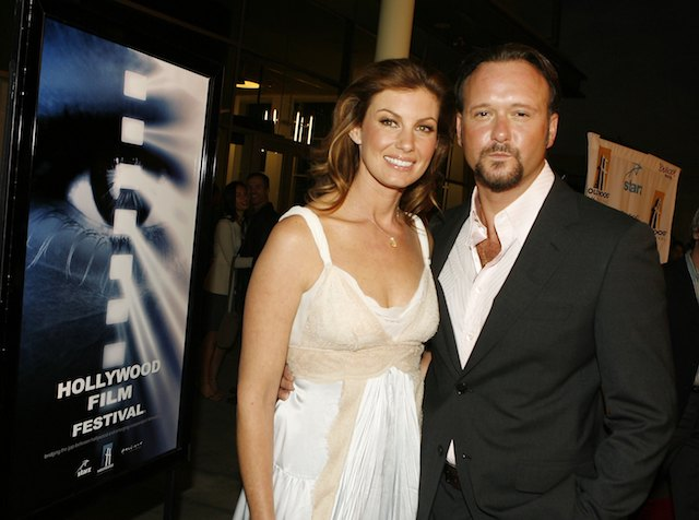 Faith Hill and Tim McGraw arrive at the Hollywood Film Festival's opening night gala premiere of Twentieth Century Fox and Fox 2000s' 'Flicka' at the Arclight Theater