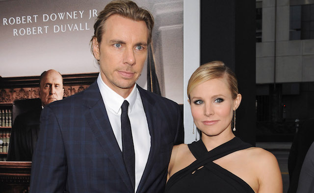 Dax Shepard and Kristen Bell arrive at the Los Angeles Premiere of 'The Judge' at AMPAS Samuel Goldwyn Theater on October 1, 2014, in Beverly Hills, California.