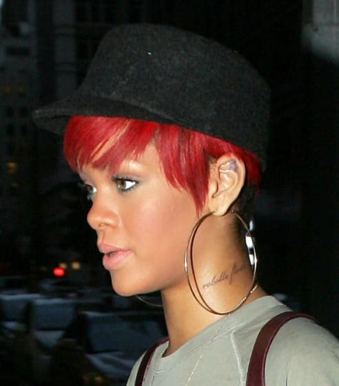 Celebrity Tattoo Fails: Rihanna
