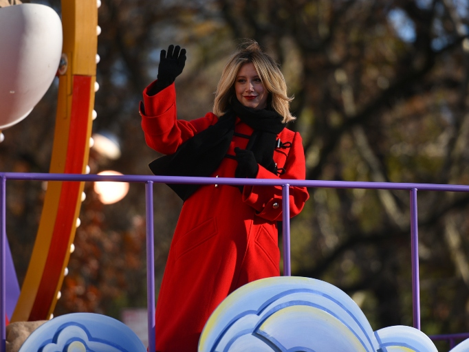 Ashley Tisdale rides in the 92nd Annual Macy's Thanksgiving Day Parade on November 22, 2018