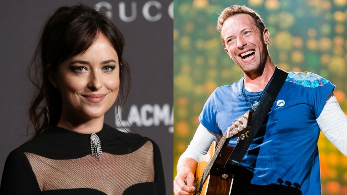 Dakota Johnson and Chris Martin collage