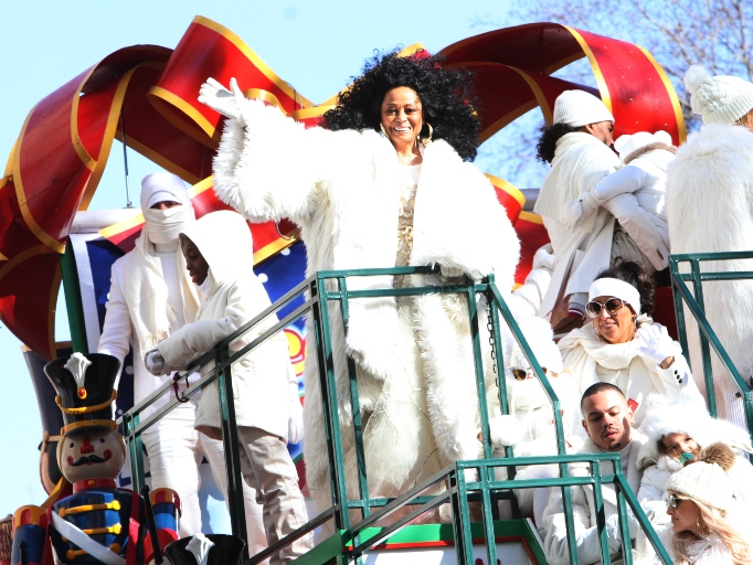 Diana Ross rides in the 92nd Annual Macy's Thanksgiving Day Parade on November 22, 2018
