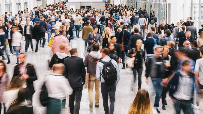 photo of people walking at airport