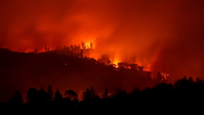 photo of california camp fire wildfire