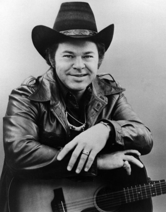 US country musician Roy Clark with his guitar
