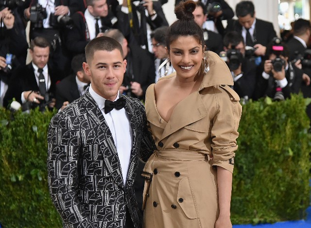 Nick Jonas and Priyanka Chopra attend the 'Rei Kawakubo/Comme des Garcons: Art Of The In-Between' Costume Institute Gala